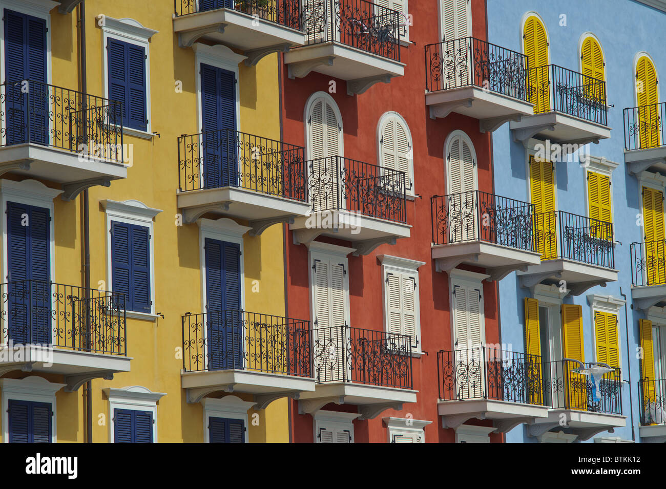 Attractive Giro Du0027italia Italy Porto Recanati Apartment Buildings   Stock Image