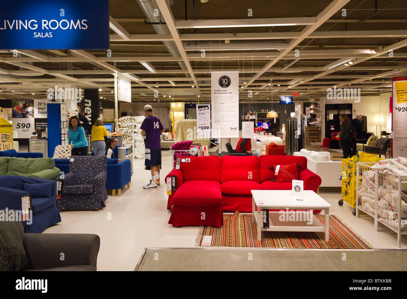 Ikea Furniture Warehouse Store Plymouth Meeting Pennsylvania Usa