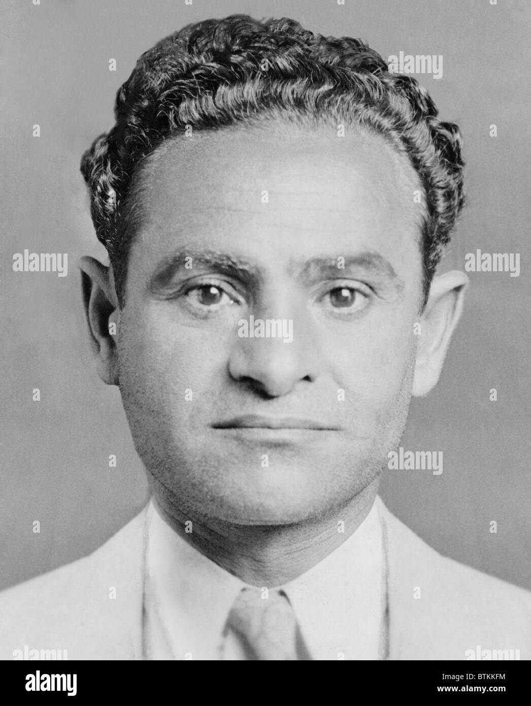 Joseph Amburg (1892-1935), was a New York labor racketeer during the 1920s and 1930s. Joseph worked with his brother - Stock Image