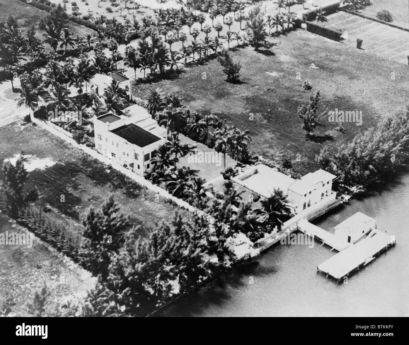 Al Capone's luxurious Florida estate was cited as evidence of his extravagant life style during his 1931 tax - Stock Image
