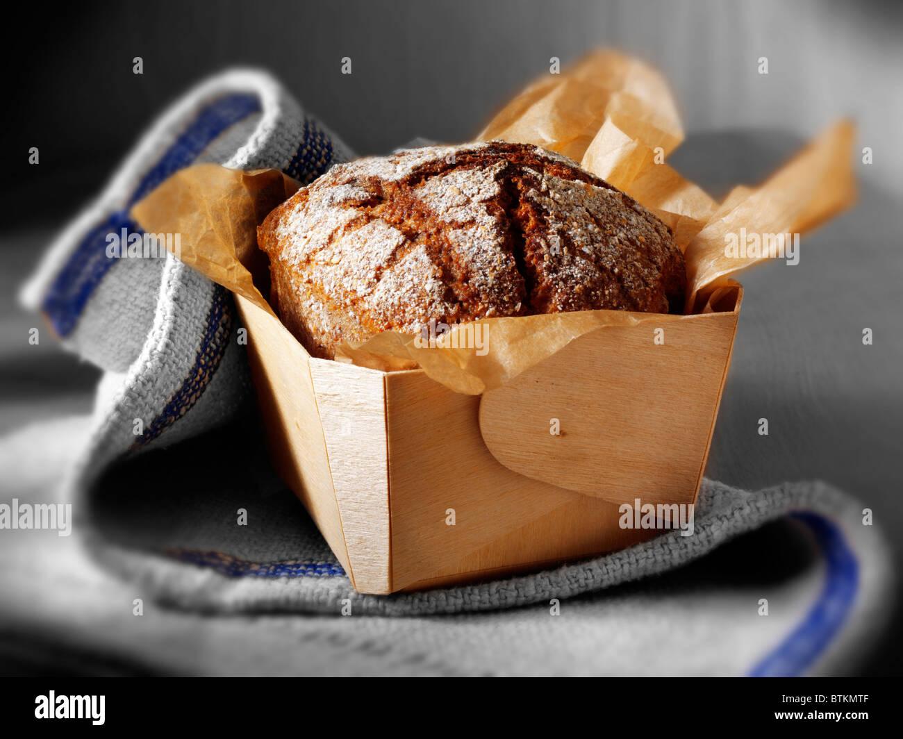 Deli Rye Bread loaves - Stock Image