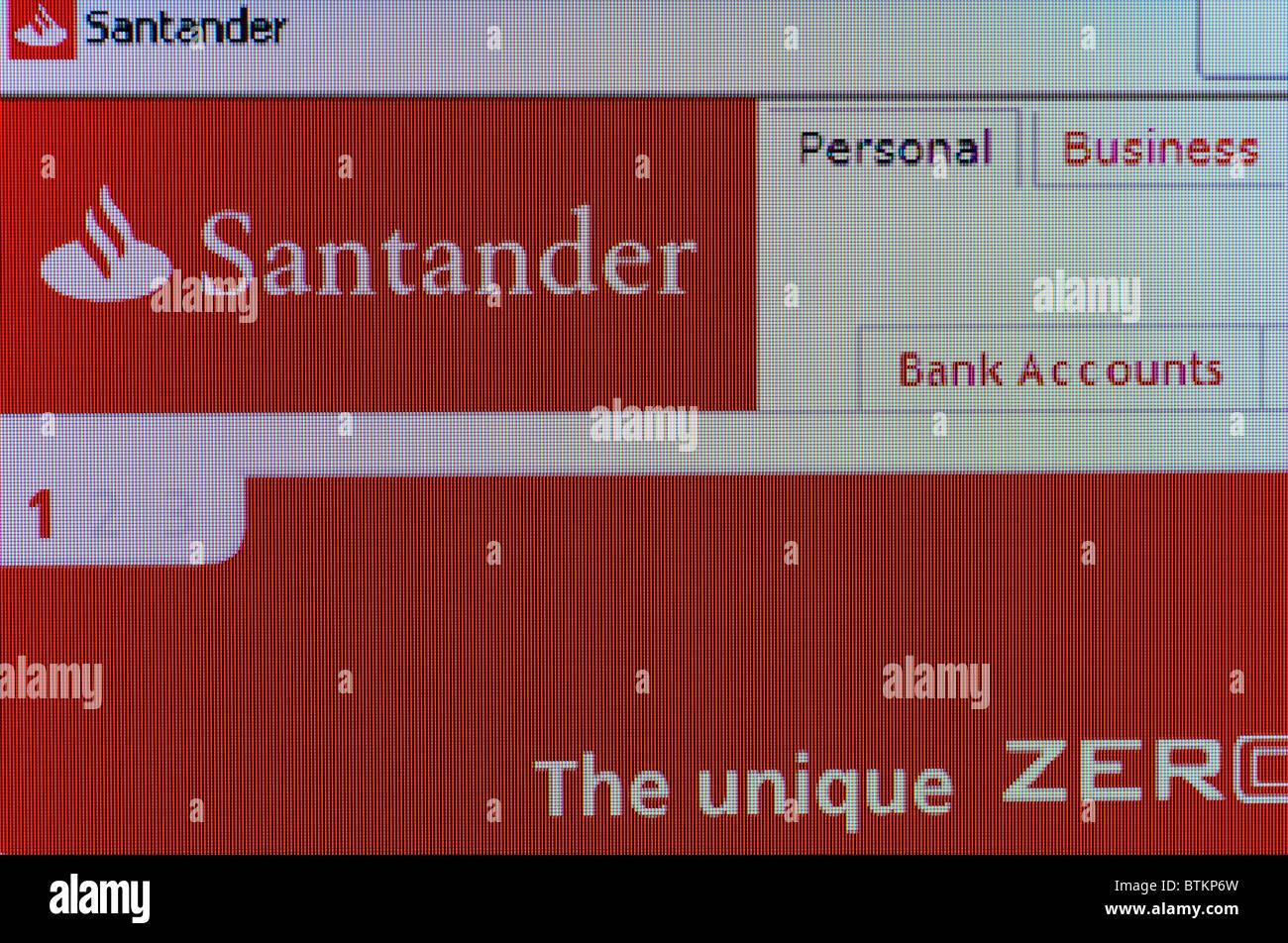 ' Santander ' internet banking website - Stock Image