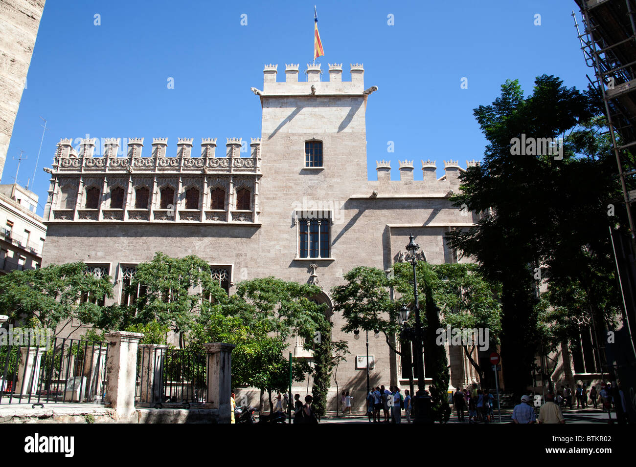 La Lonja, Llotja de la Seda Silk Exchange Valencia Spain Stock Photo