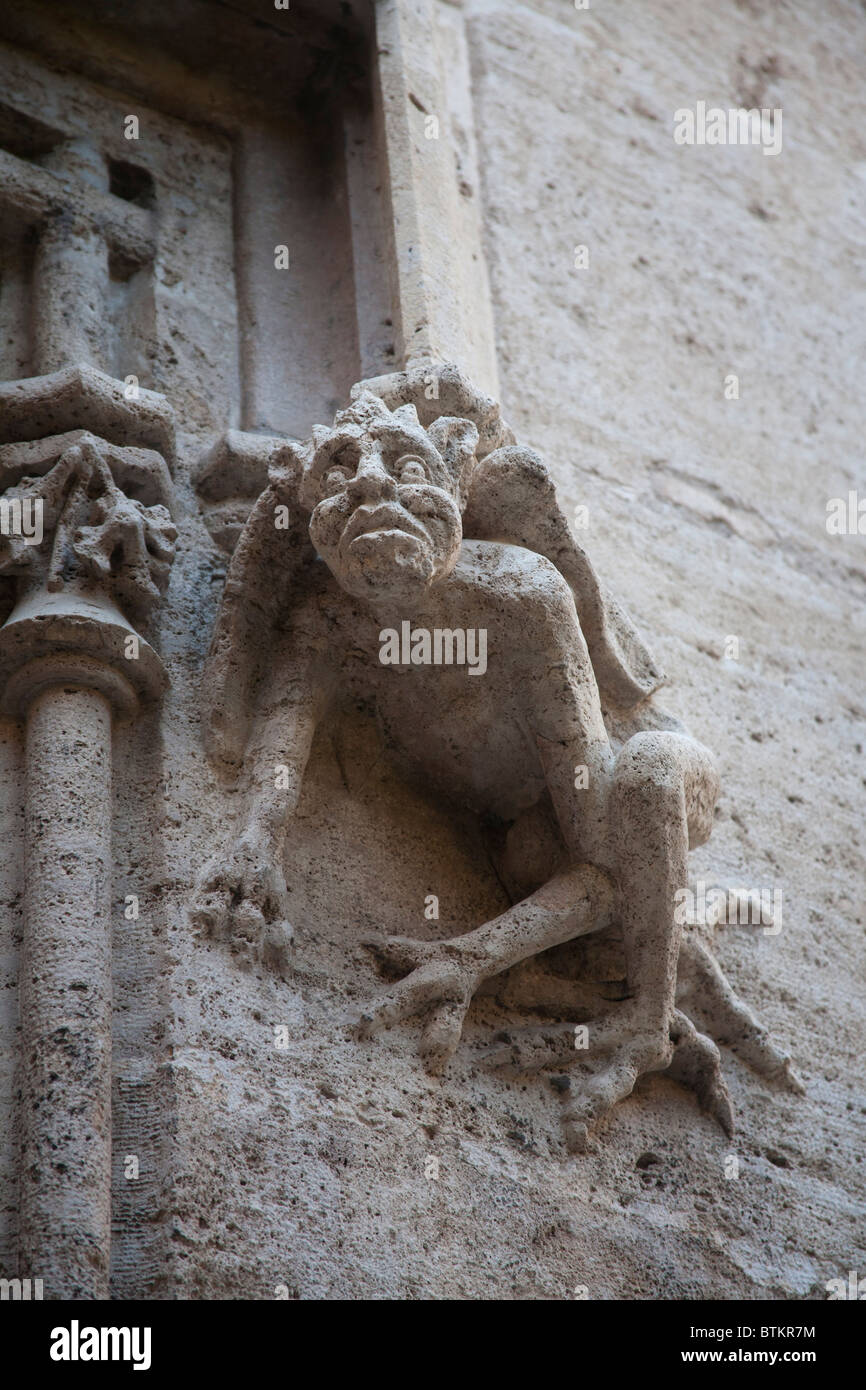 A Gargoyle on the Llotja de la Seda Silk Exchange Valencia Spain Stock Photo