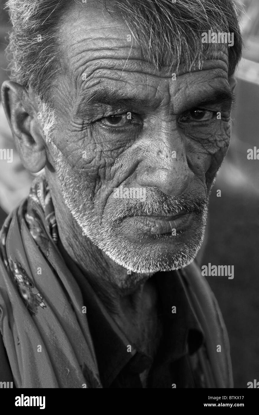 Indian old man black and white stock photos images alamy