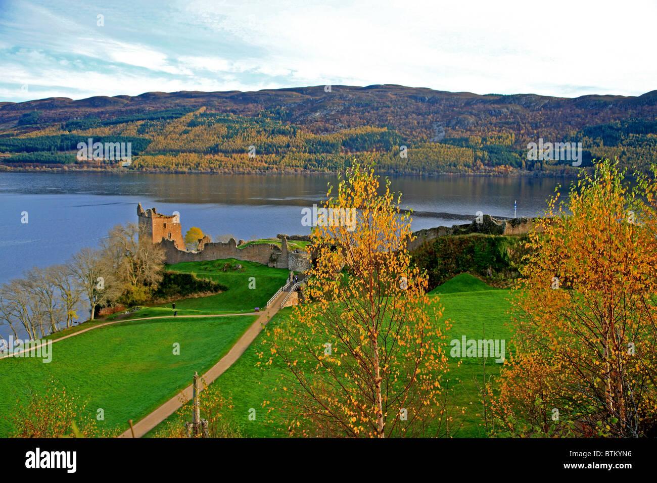 UK Scotland Highland Inverness-shire Urquhart Castle - Stock Image