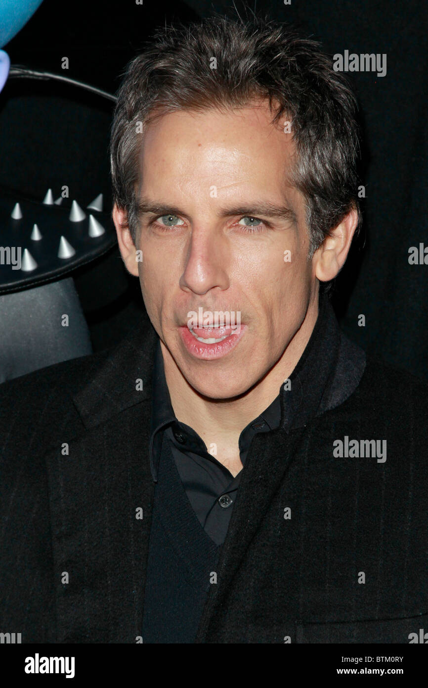 Ben Stiller New York premiere of the animated film 'Megamind' - Stock Image