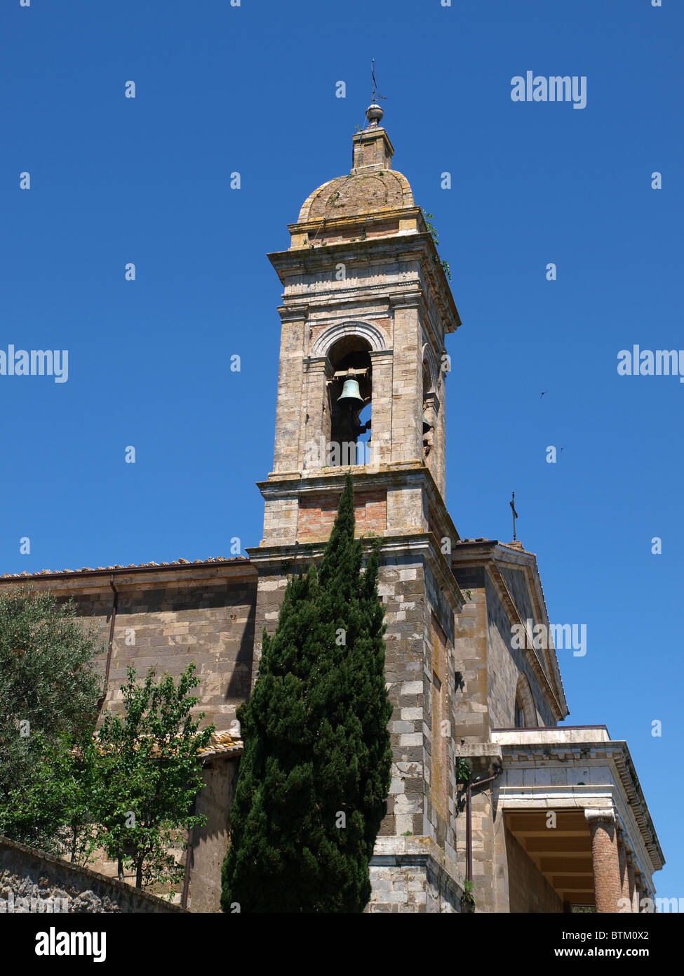 Montalcino - The Cathedral of San Salvatore - Stock Image
