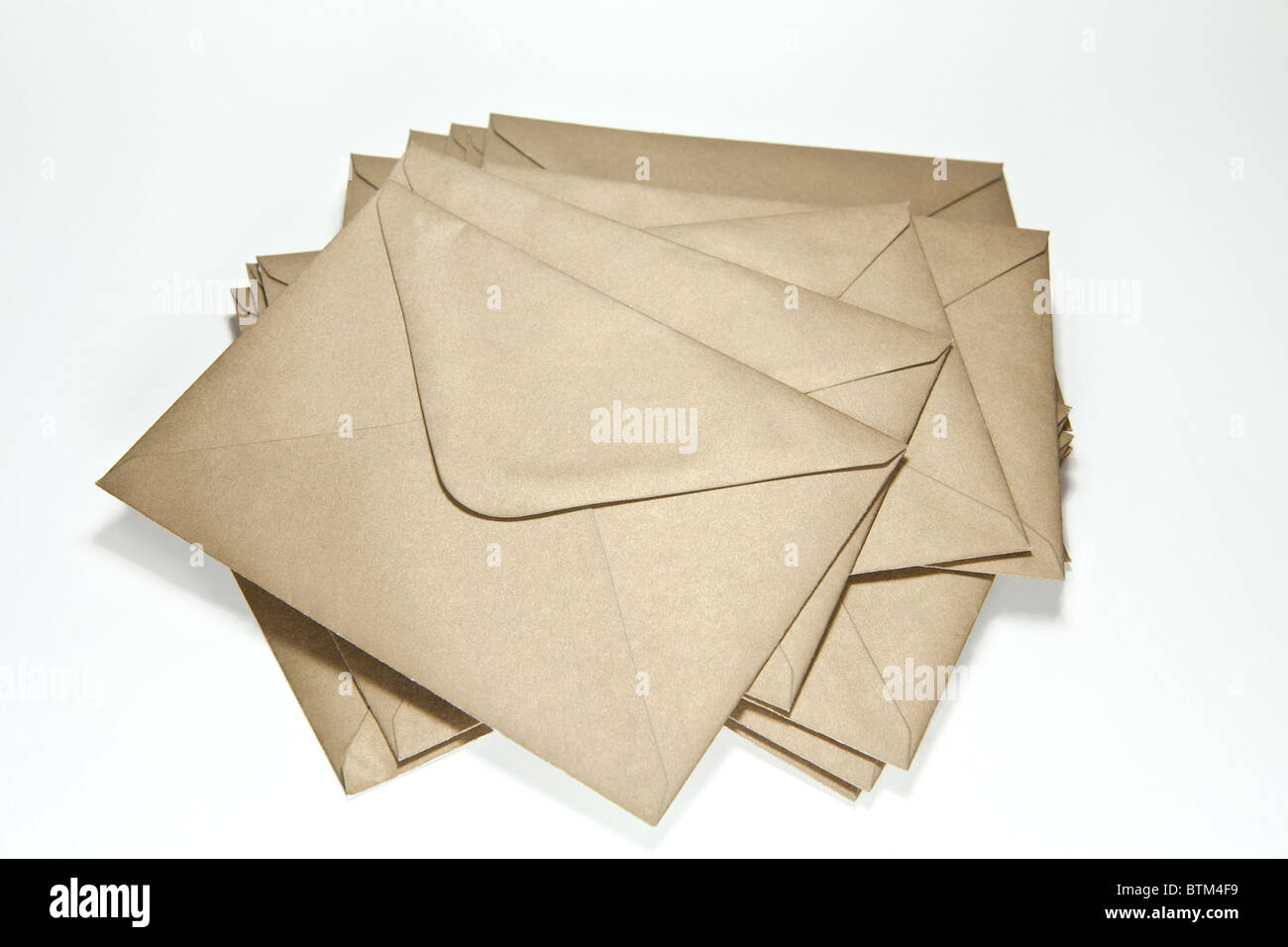 big pile of scattered envelopes - Stock Image