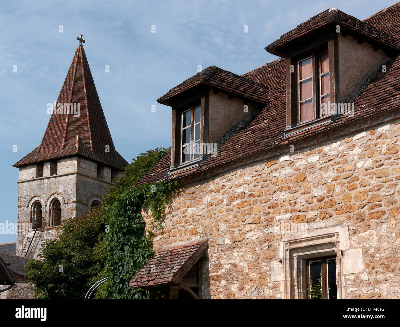 Carennac village in Lot, France - Stock Image