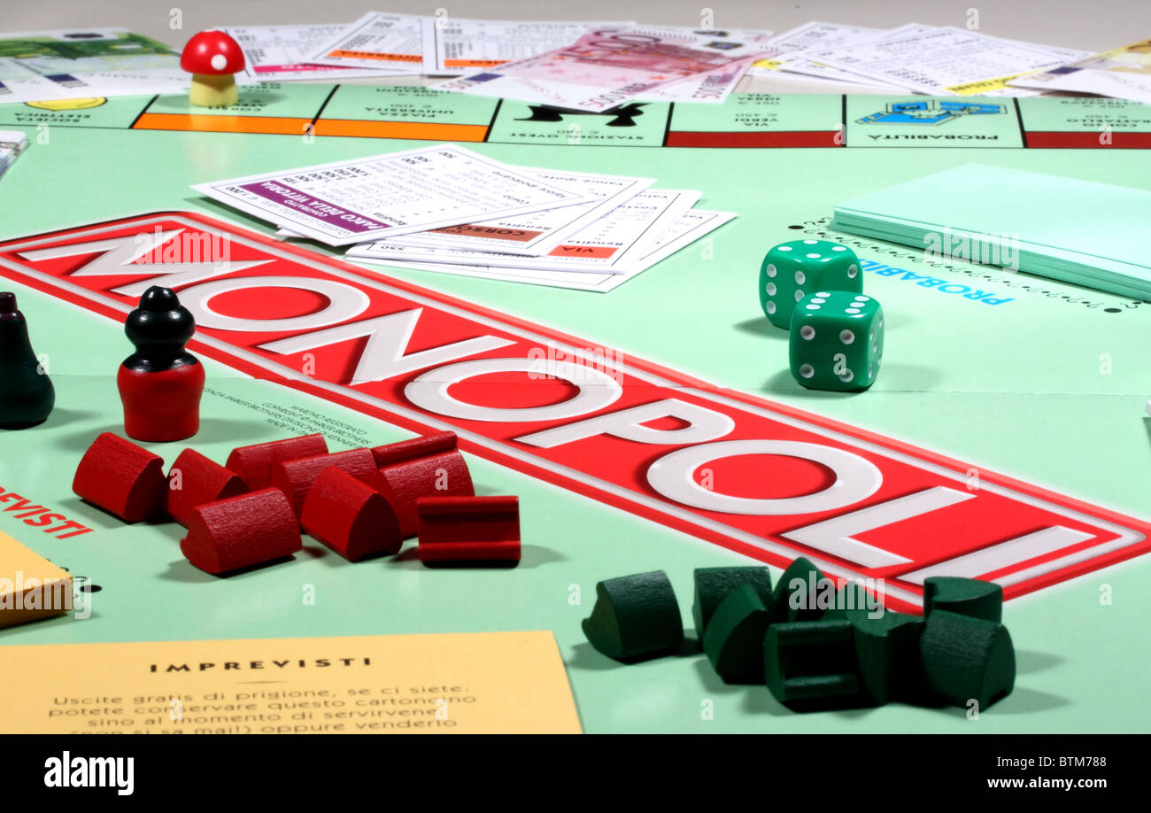 monopoly game - Stock Image