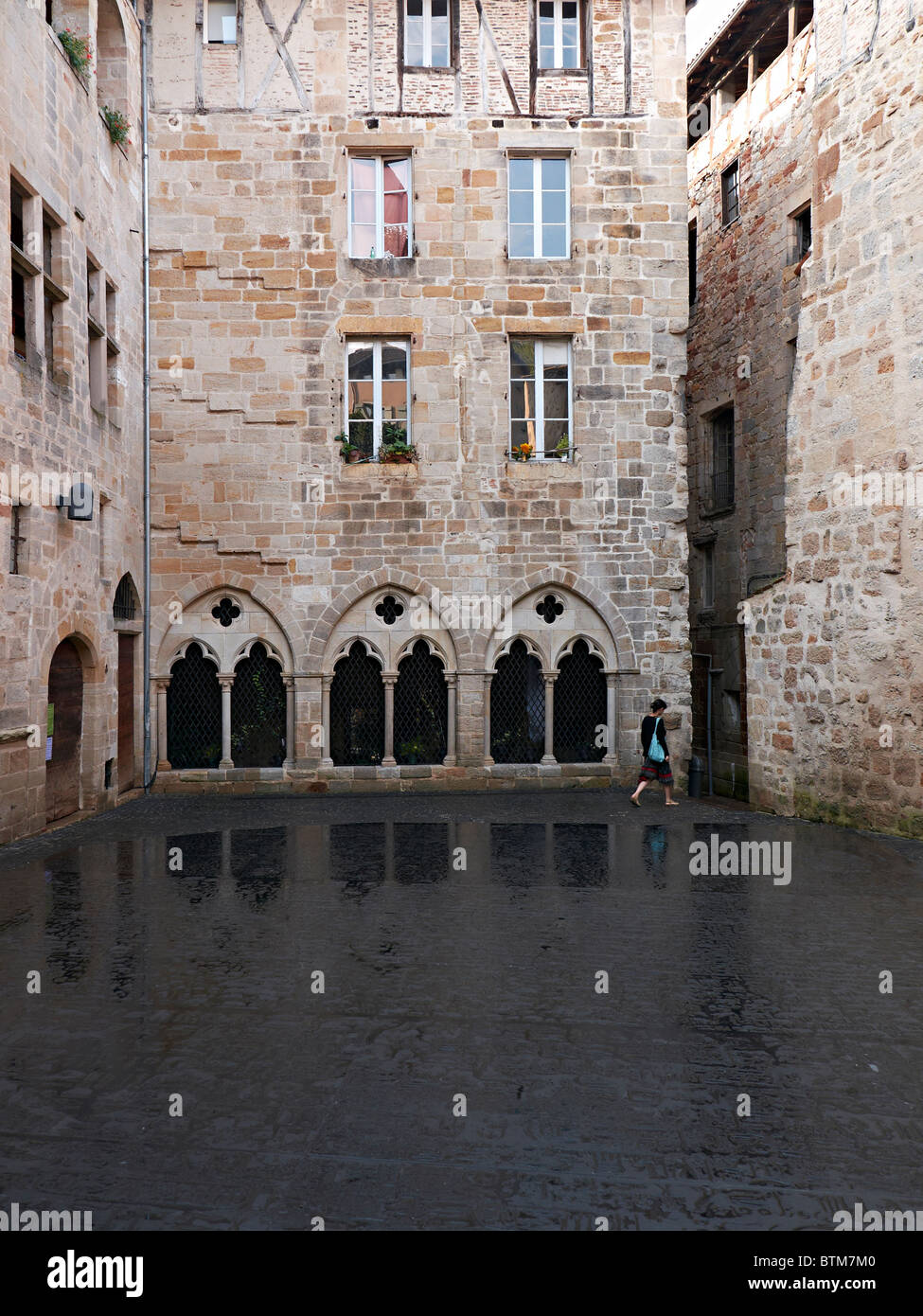 place des escritures in Figeac - Stock Image
