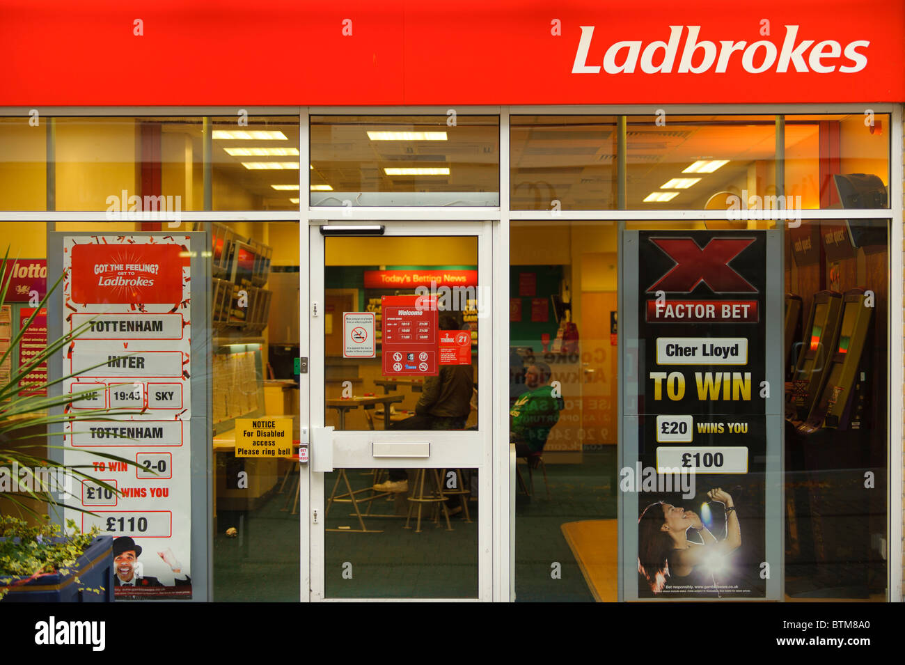 Ladbrokes betting shop bookies, Cardiff wales UK - Stock Image