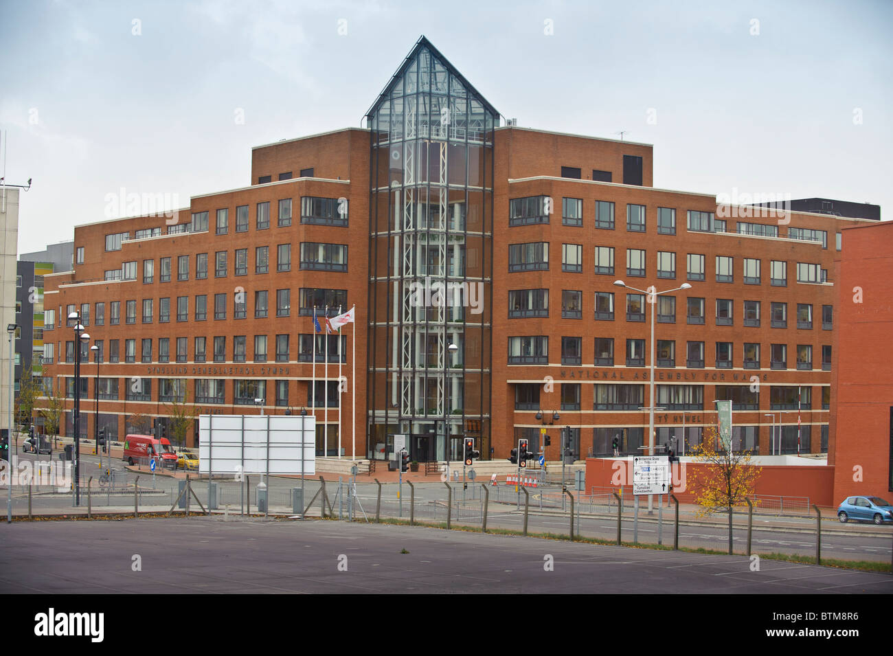 Ty Hywel, the offices of the Wales Assembly Government and civil service Cardiff Bay wales UK - Stock Image