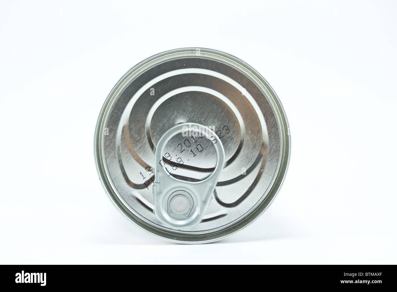 Tin can top - Stock Image
