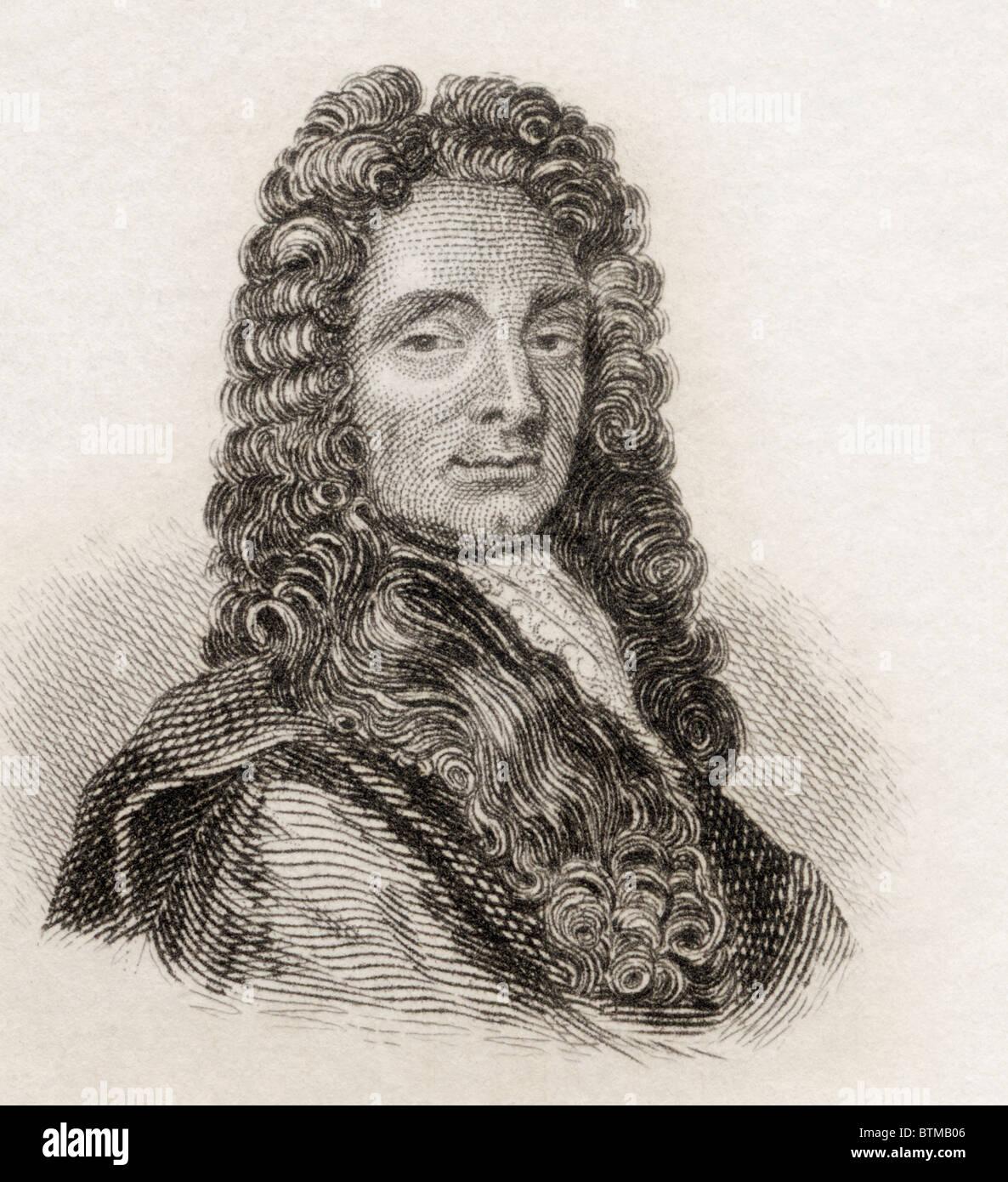 Sir Christopher Wren, 1632 to 1723. English architect. - Stock Image