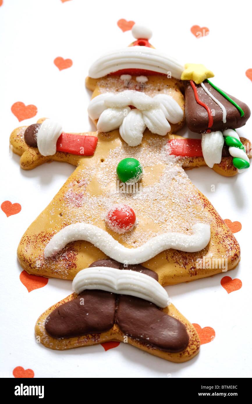 non-edible gingerbread man - Stock Image