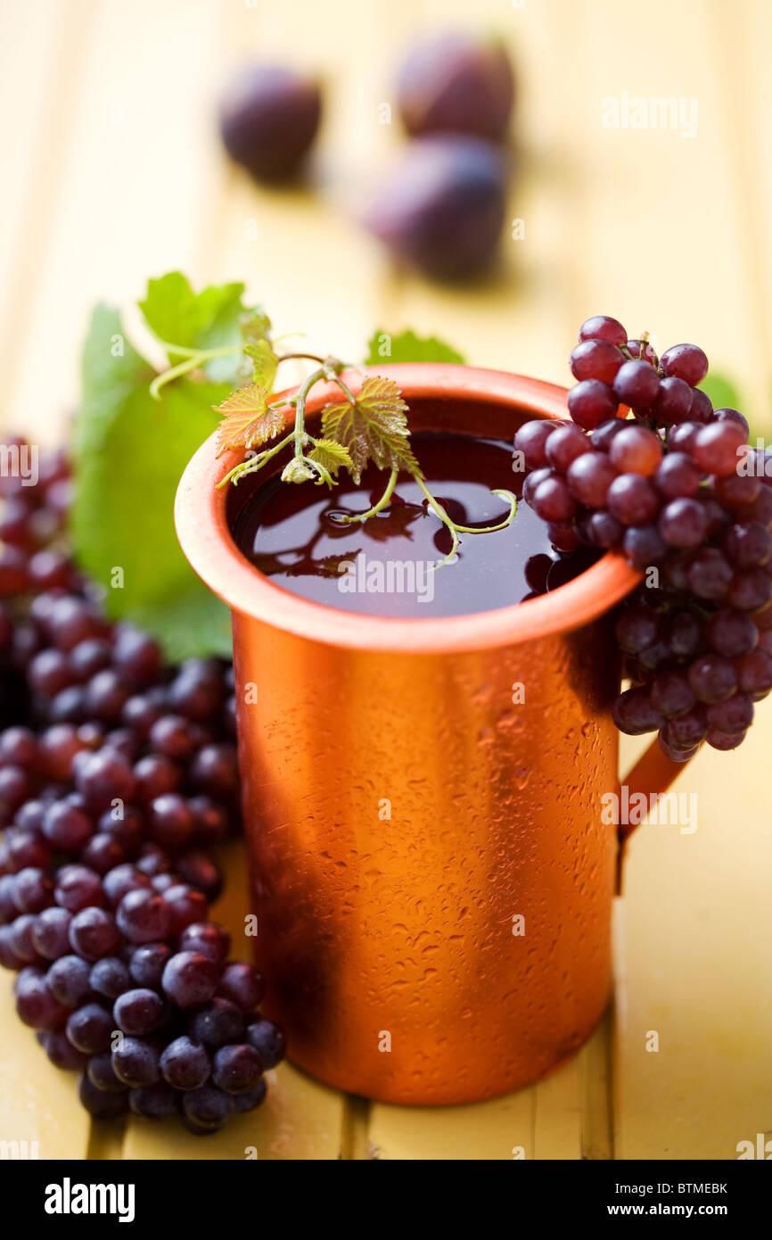 jug  of  house wine - Stock Image
