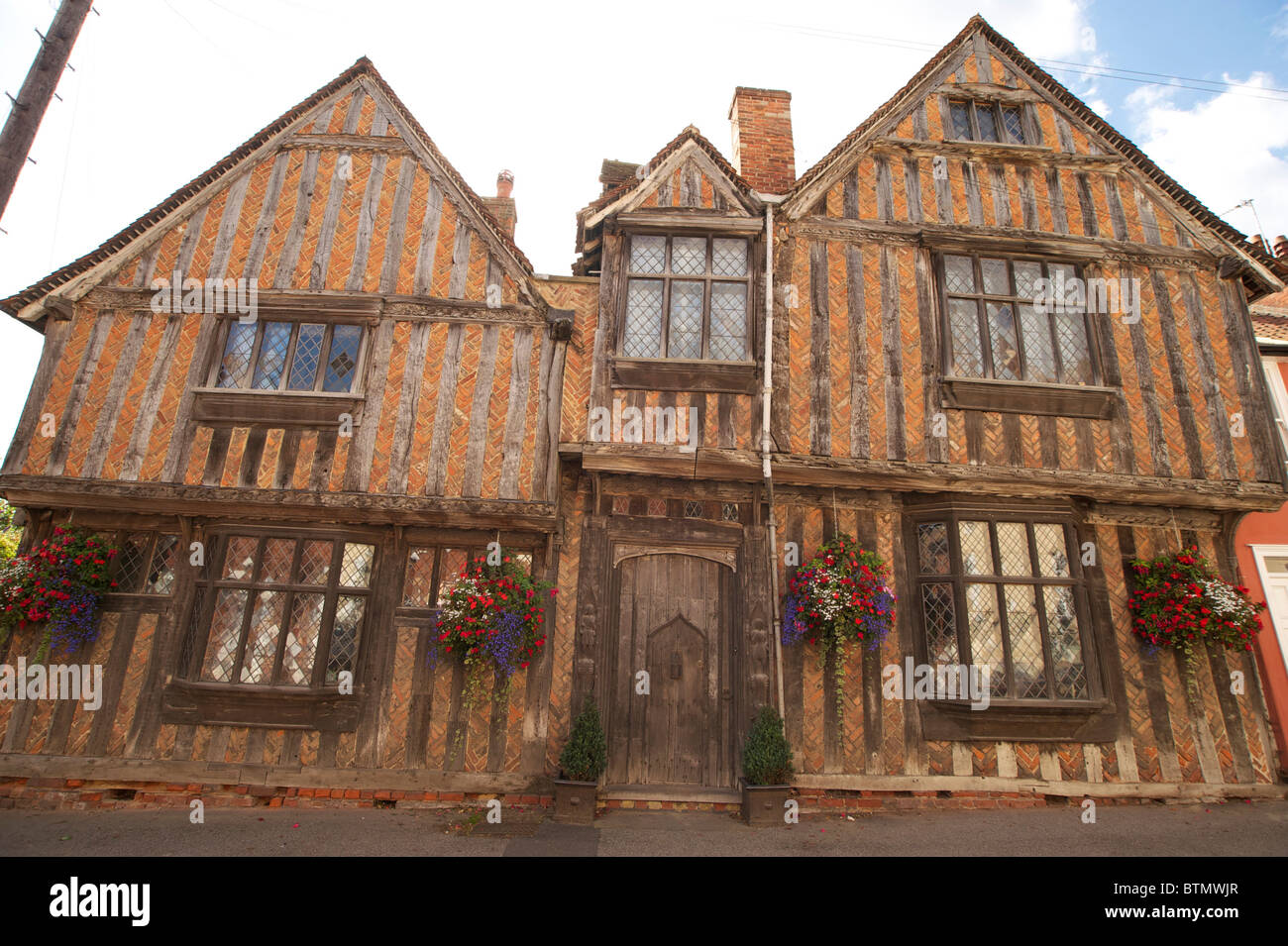 Building in the Historic Wool Village of Lavenham in Suffolk - Stock Image