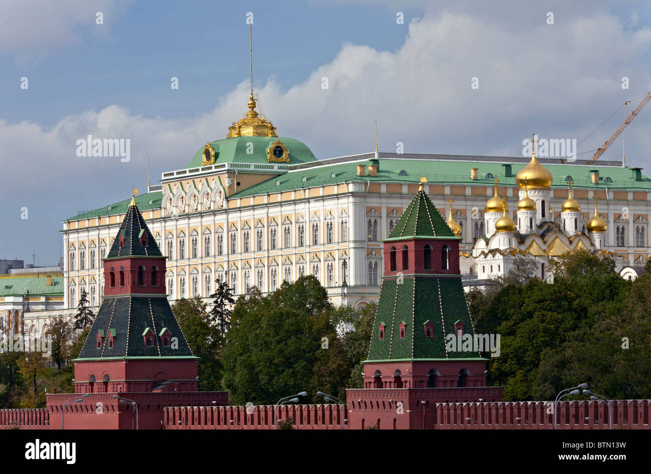 Grand Kremlin Palace, Moscow, Russia Was built in 1837-1849 - Stock Image