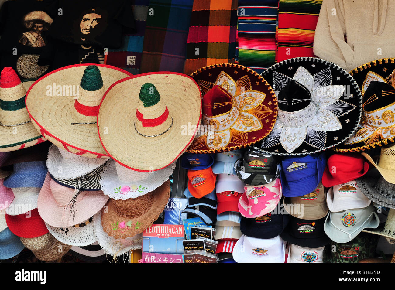 Sombreros and cowboy hat in Mexican hat shop Stock Photo  32426057 ... 7165d74f6c0
