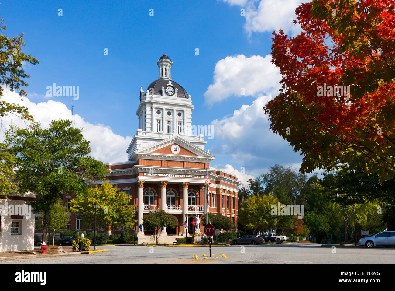 Morgan County Courthouse, Main Square, Madison, Georgia, USA - Stock Image