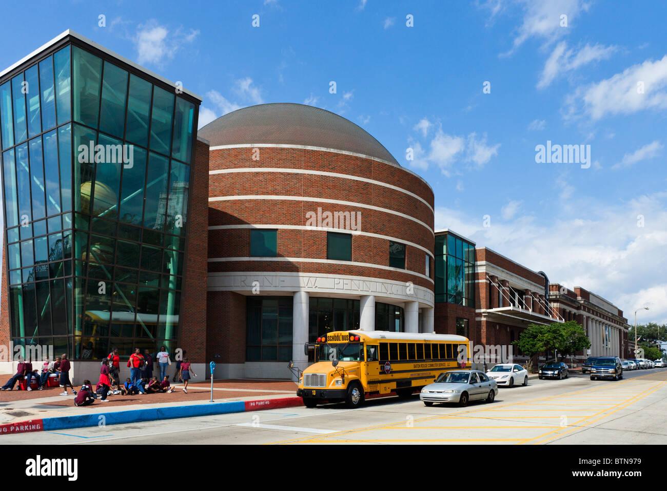 The Pennington Planetarium at the Louisiana Art and Science Museum, River Road, Baton Rouge, Lousiana, USA - Stock Image