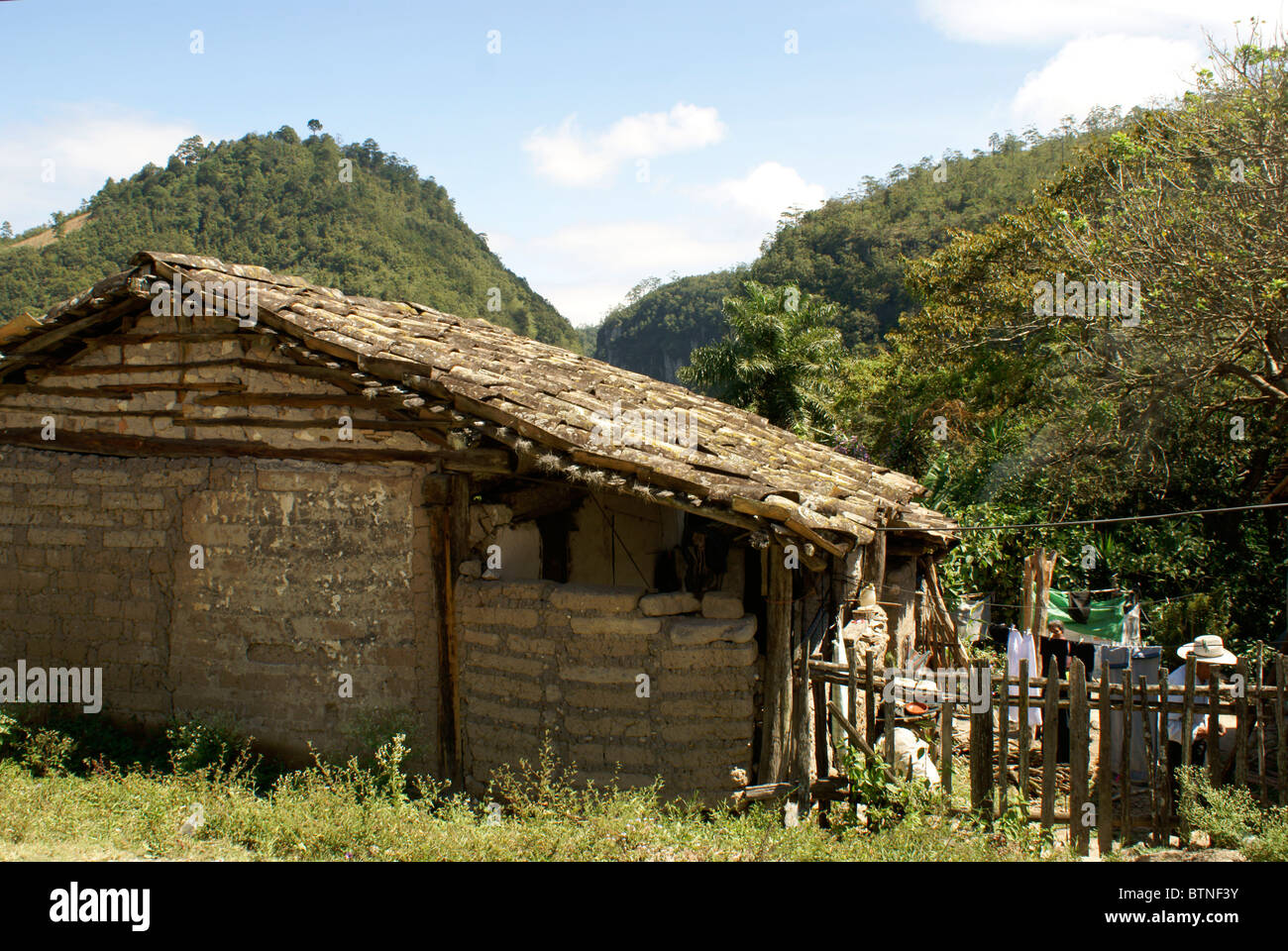 Typical Rural Honduran House In The Lenca Indian Village Of La Campa Lempira Honduras