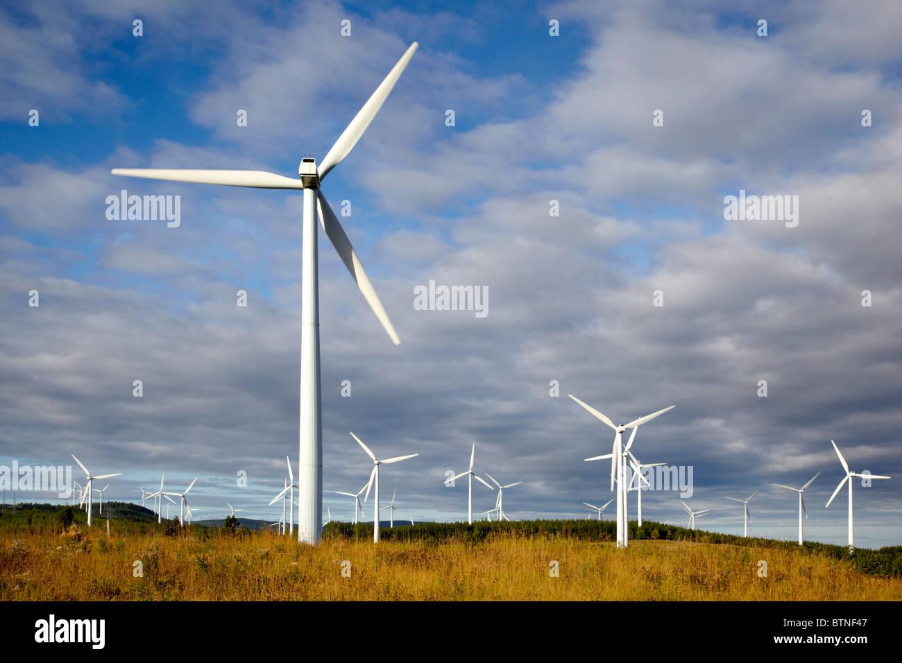Eole, Cap-Chat, wind turbines, Gaspesie, Quebec, Canada - Stock Image