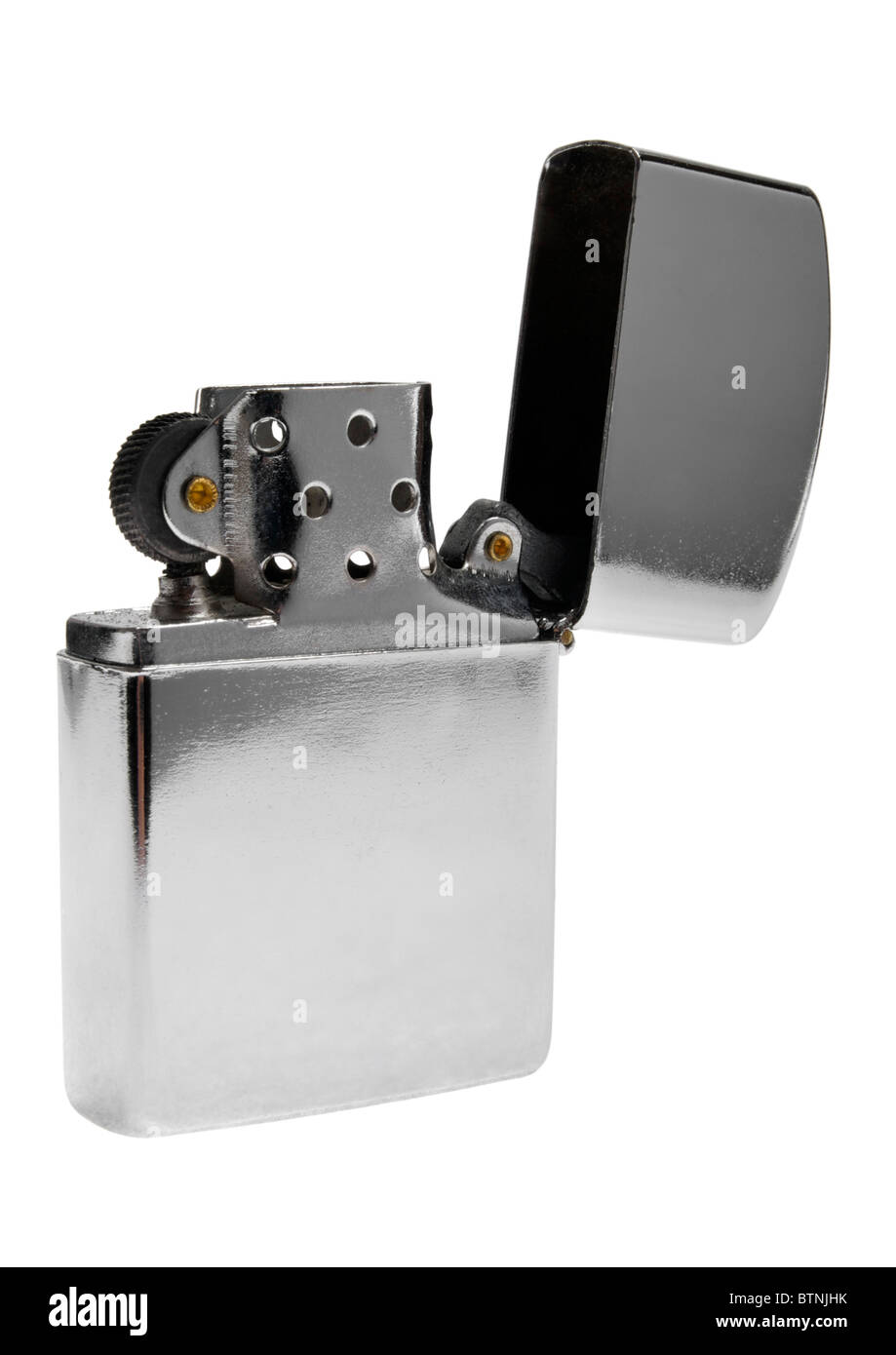 Zippo lighter on white background Stock Photo