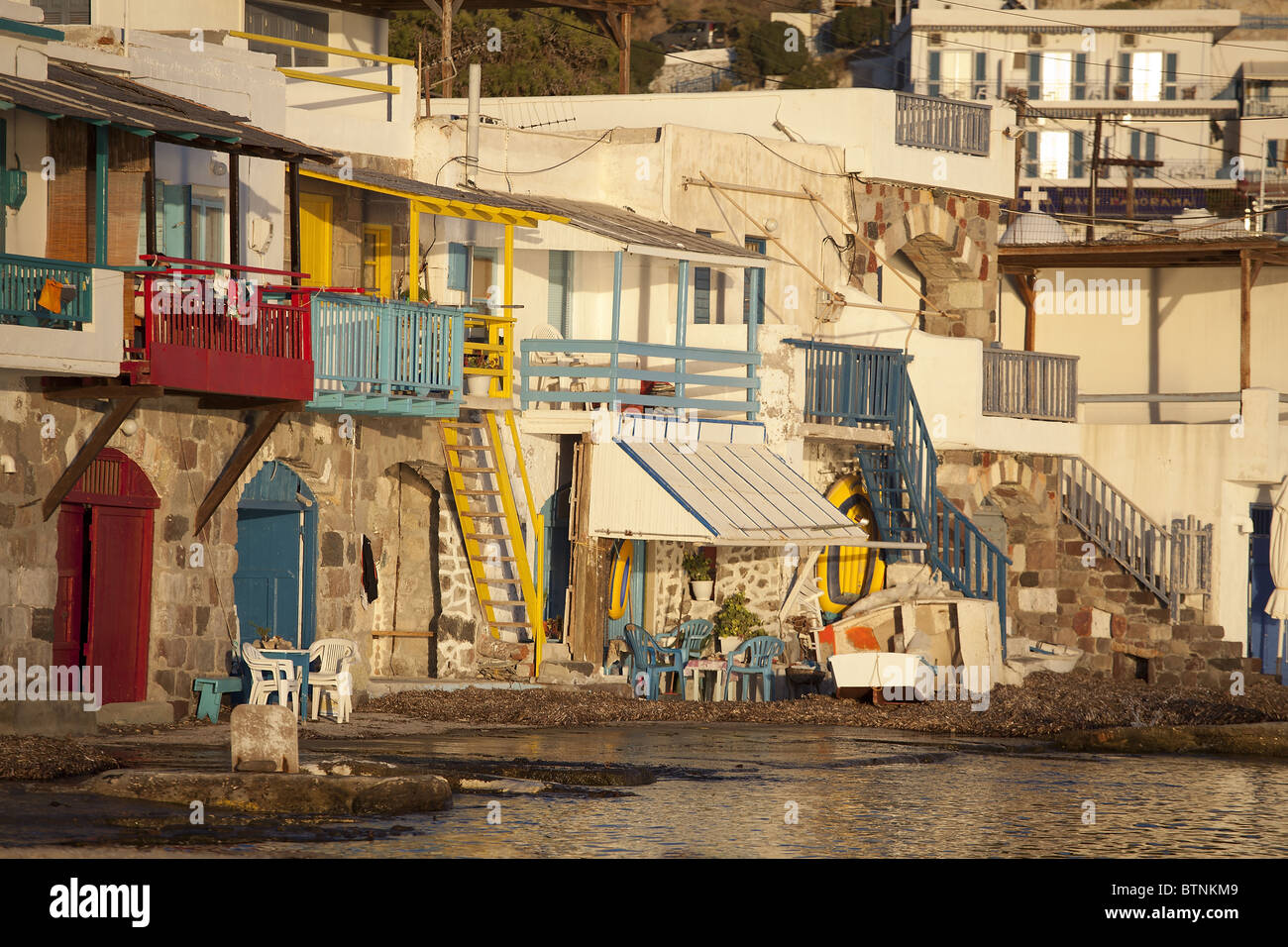 klima old village milos cyclades island greece - Stock Image