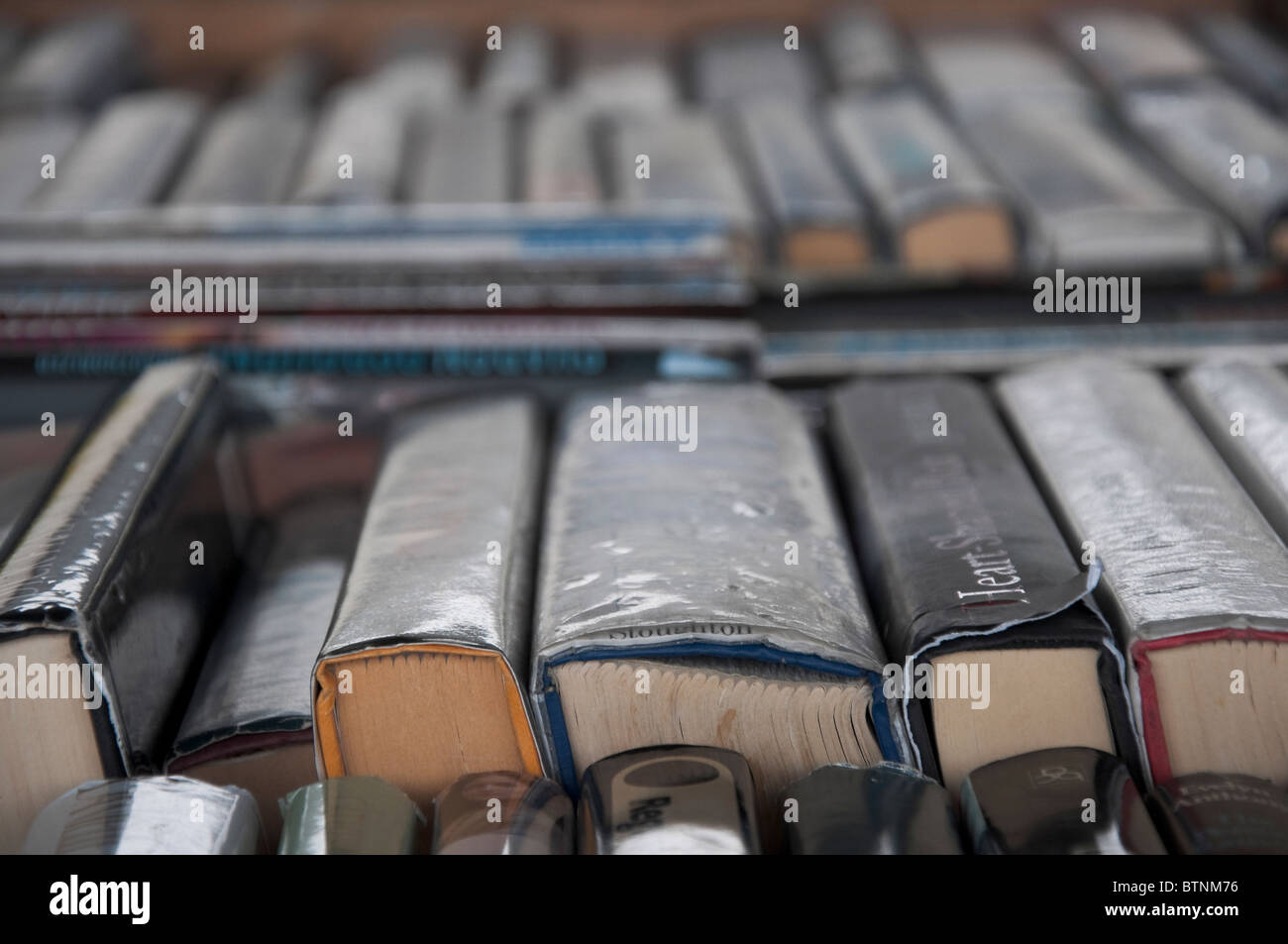 Collection of Secondhand Books for sale Stock Photo