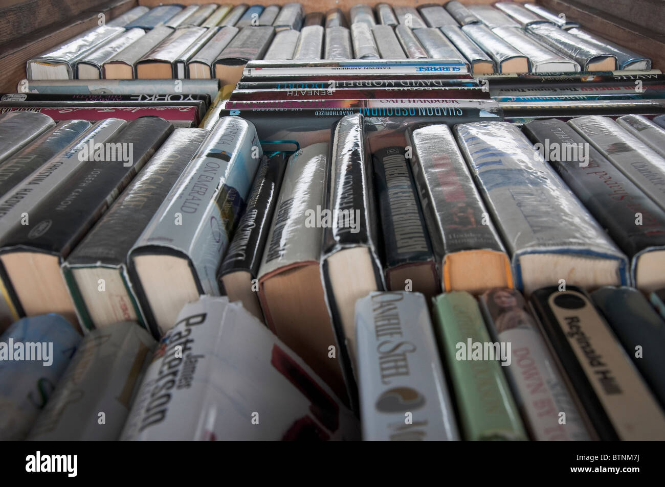 Collection of Secondhand Books for sale - Stock Image
