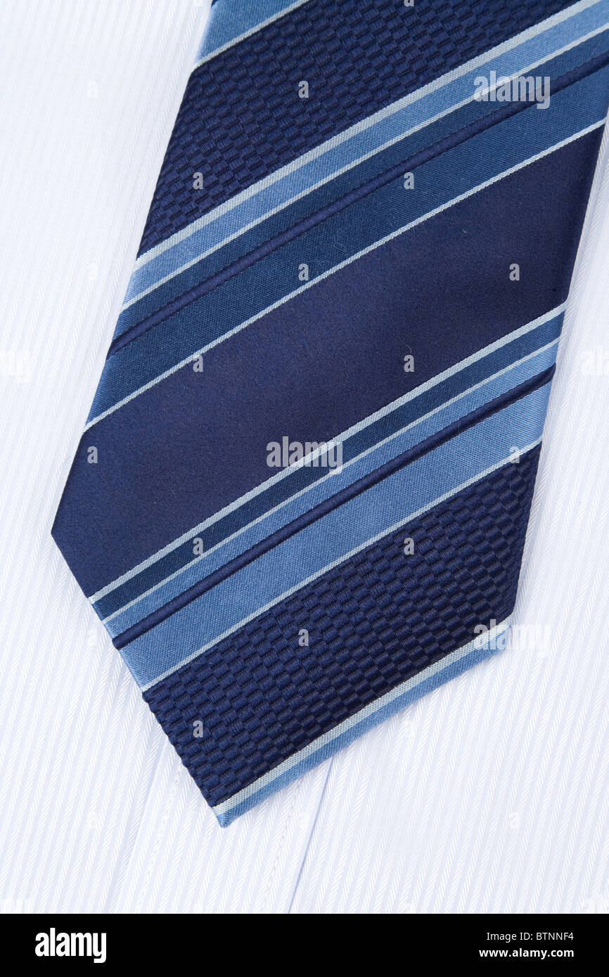Shirt and Necktie close up shot - Stock Image
