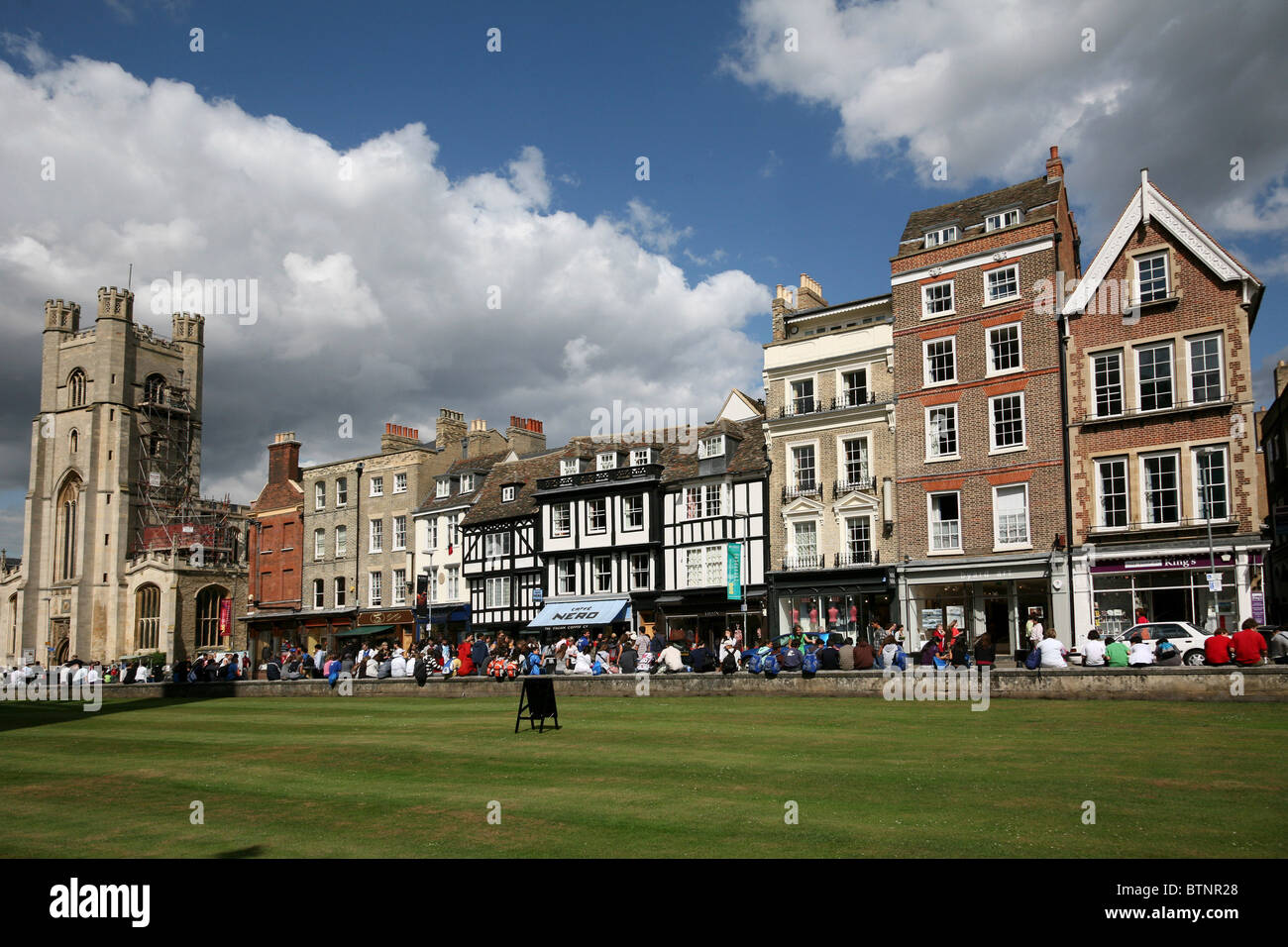 Cambridge, Street View, King's Parade across from King's College - Stock Image