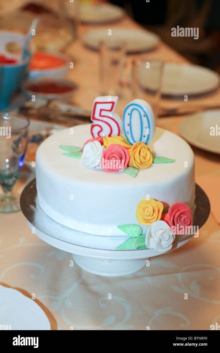 Awe Inspiring 50 Years Birthday Cake Stock Photo 32441556 Alamy Funny Birthday Cards Online Eattedamsfinfo