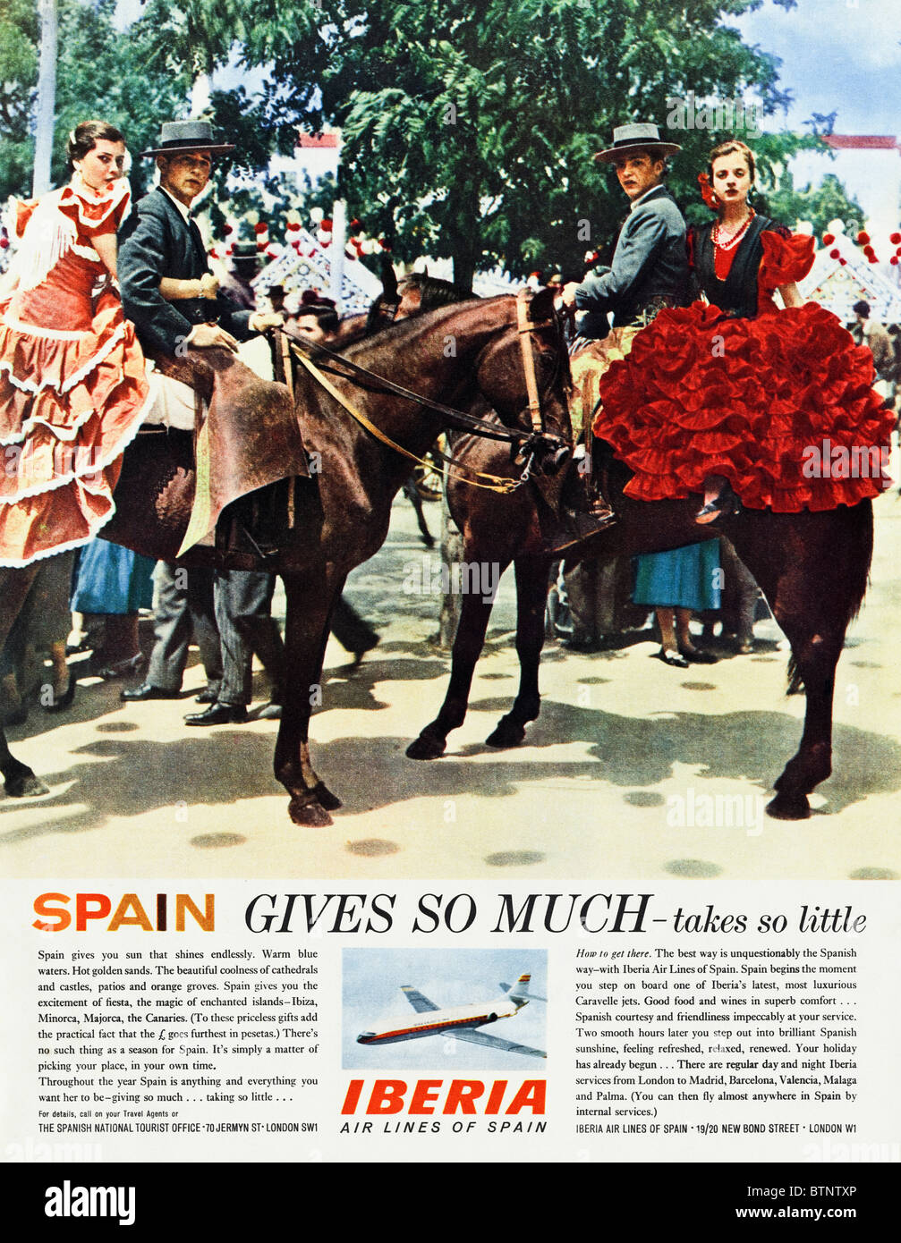 60s Advert Stock Photos Images Alamy Wiring Harness In Spanish English Magazine Circa 1963 For National Tourist Board And Iberia Airlines Of Spain