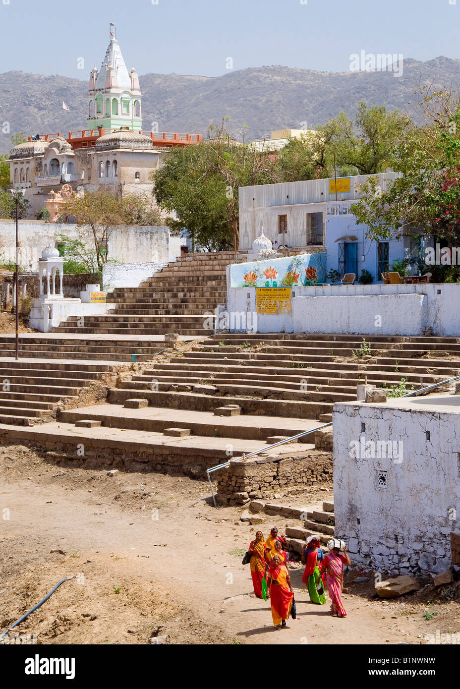 Ghats, Pushkar, Rajasthan, India - Stock Image