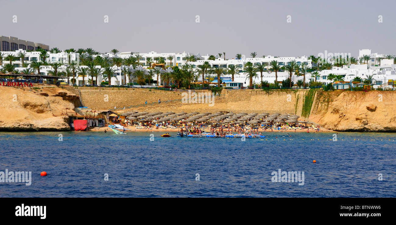 The 'Animation Beach' of the Royal Rojana Resort north of Sharm El Sheik, south east coast Sinai Peninsula, - Stock Image