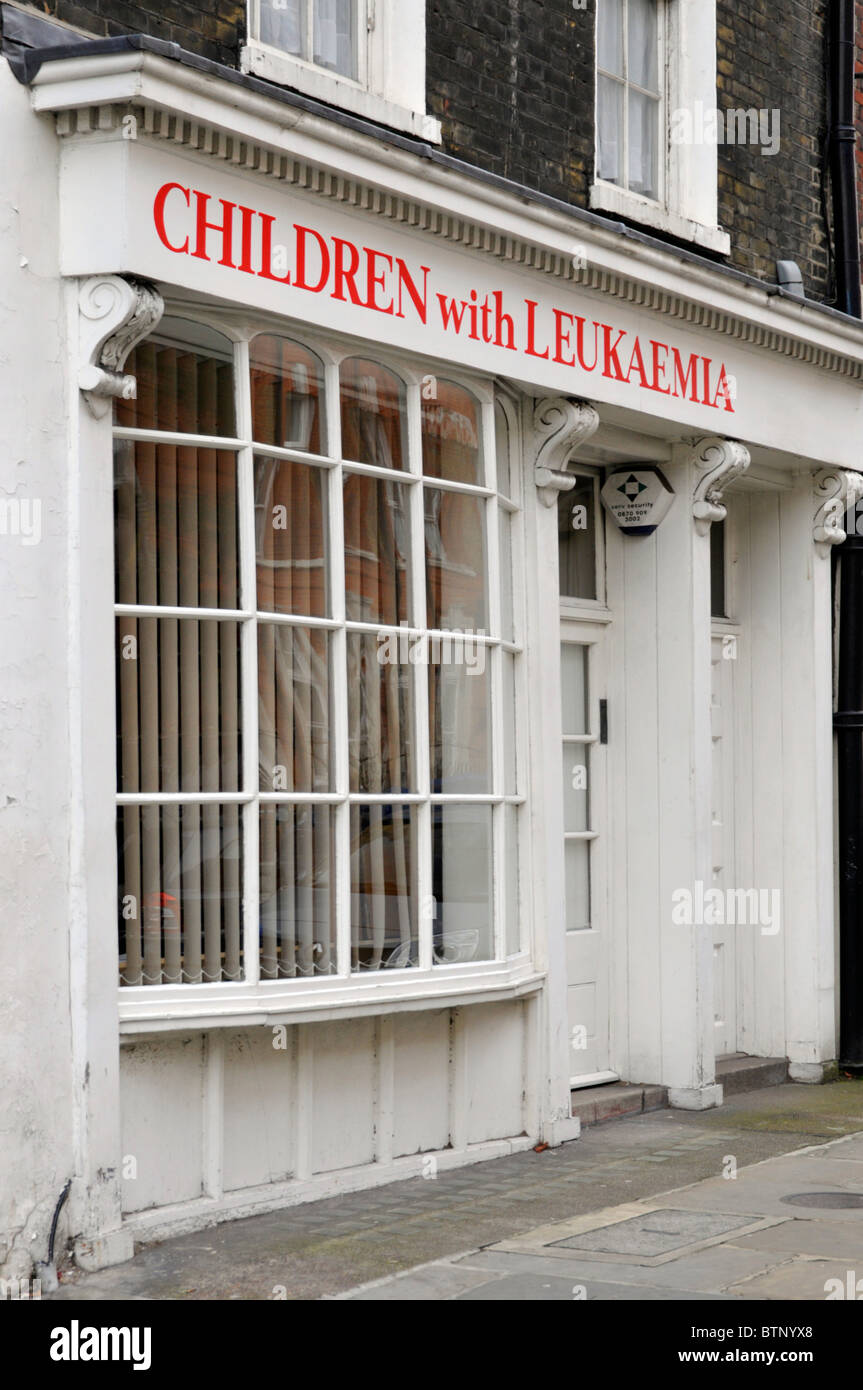 London offices of the charity Children with Leukaemia - Stock Image