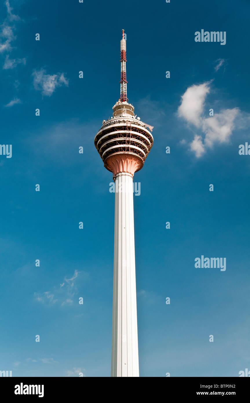 The Kuala Lumpur Tower also known as KL tower or Menara, Kuala Lumpur, Malaysia - Stock Image