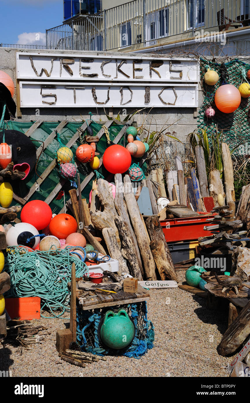 an artists studio in Porthleven, Cornwall, Uk - Stock Image