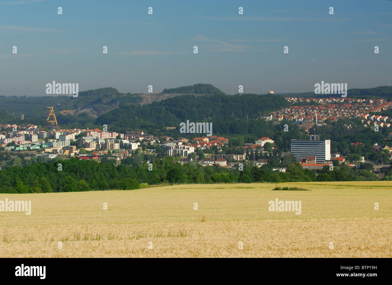 Freyming Merlebach town was the french capital of coal industry during 20th century, Moselle, Lorraine region, France, - Stock Image
