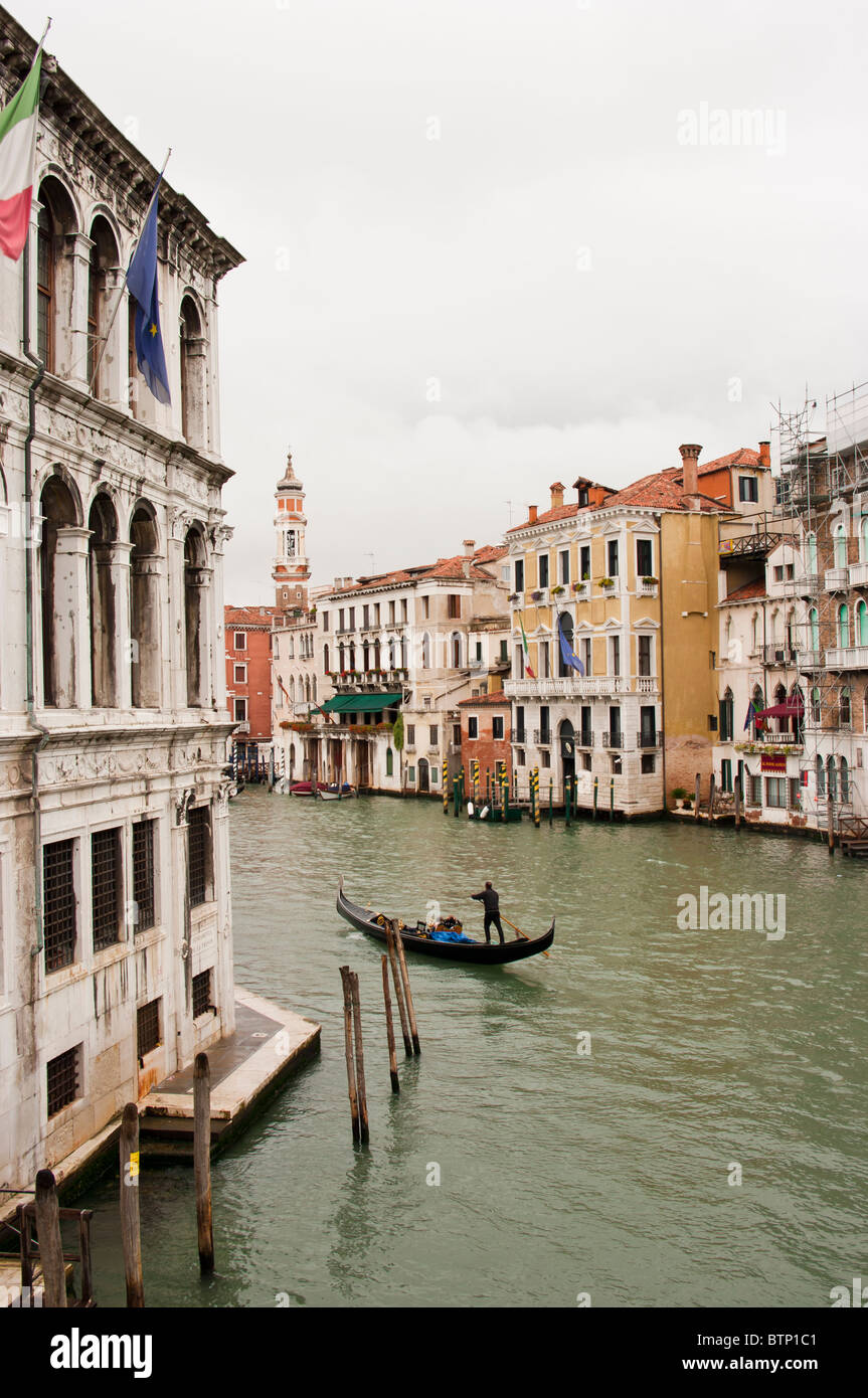Grand canal, view from Academia bridge - Stock Image