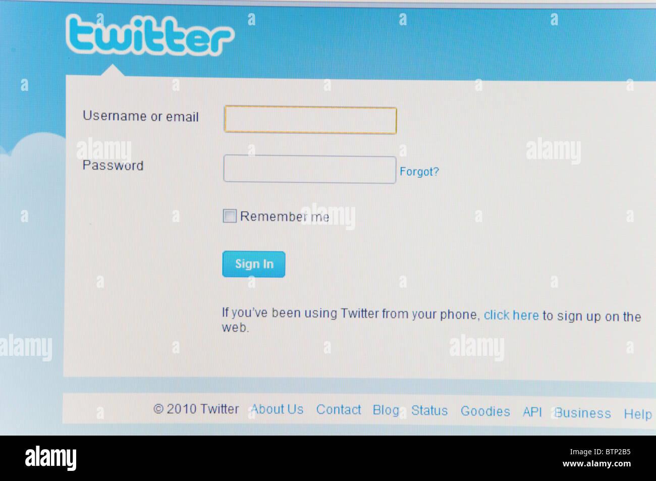 Twitter Screen Shot Stock Photos & Twitter Screen Shot Stock