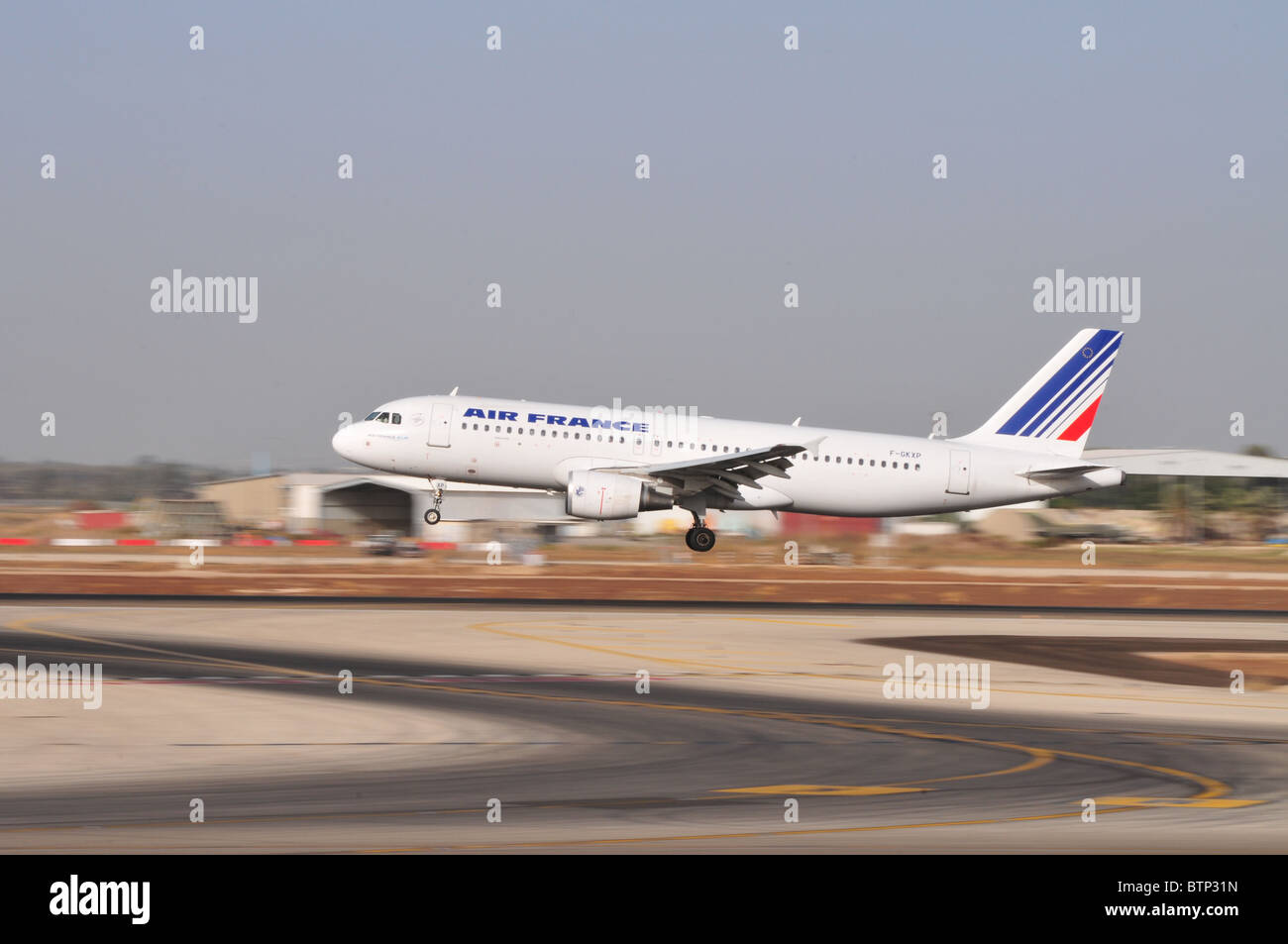 Israel, Ben-Gurion international Airport Air France Airbus A320-214 - Stock Image