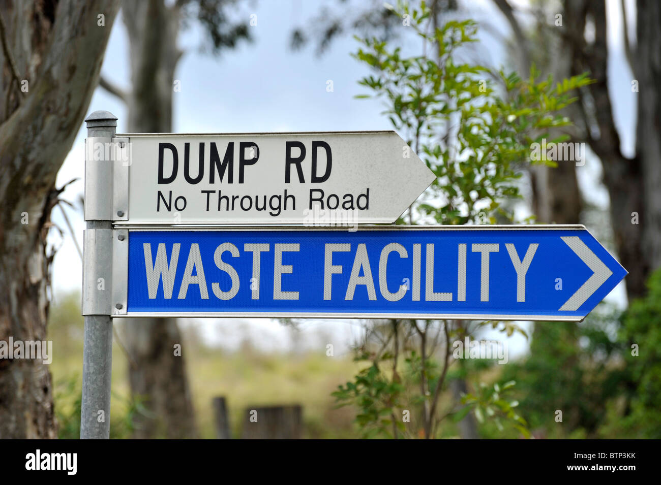 Waste Facility Dump Rd - Stock Image