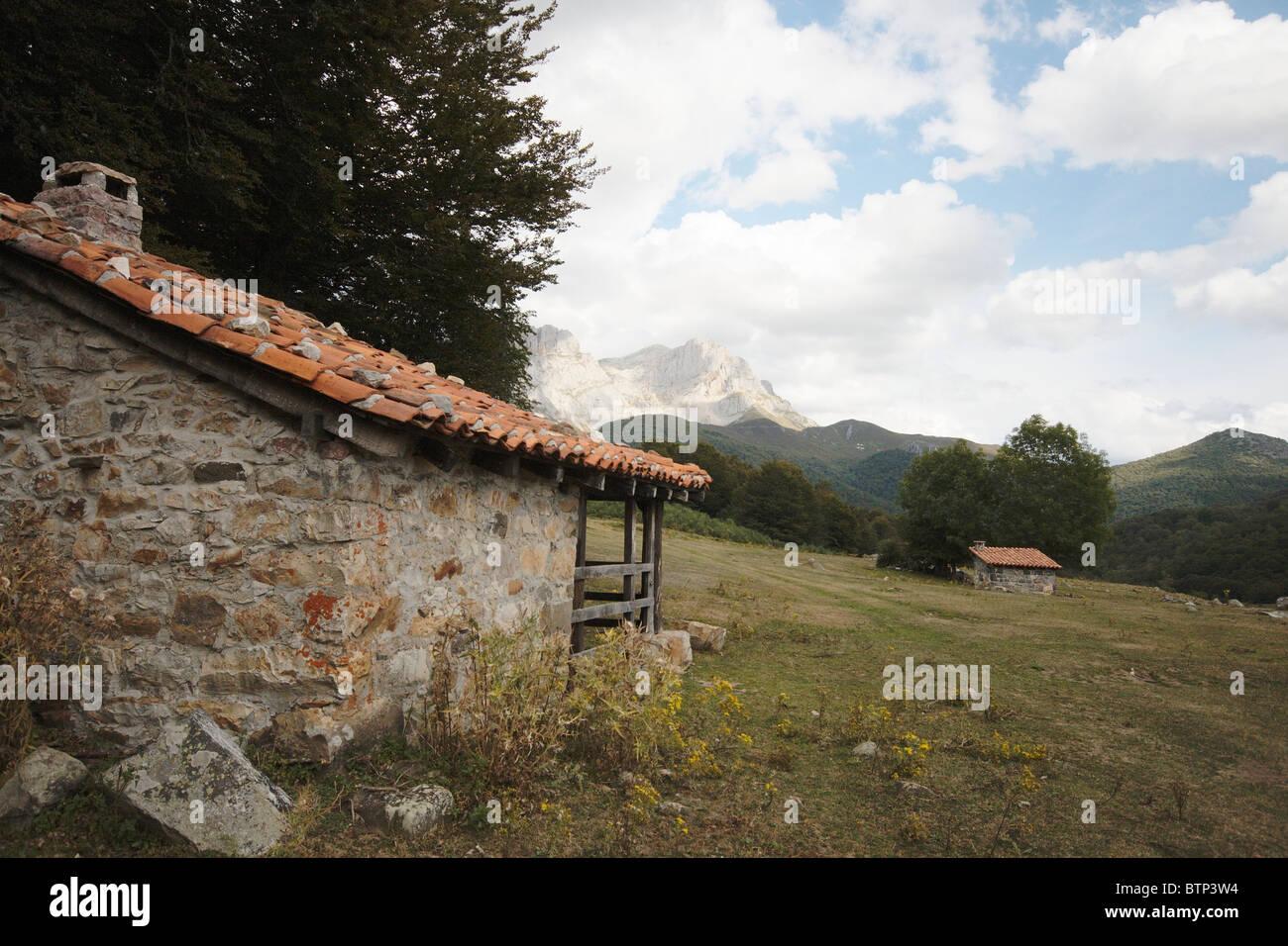 Spain, Asturias, Sotto de Sajambre, Refuge - Stock Image