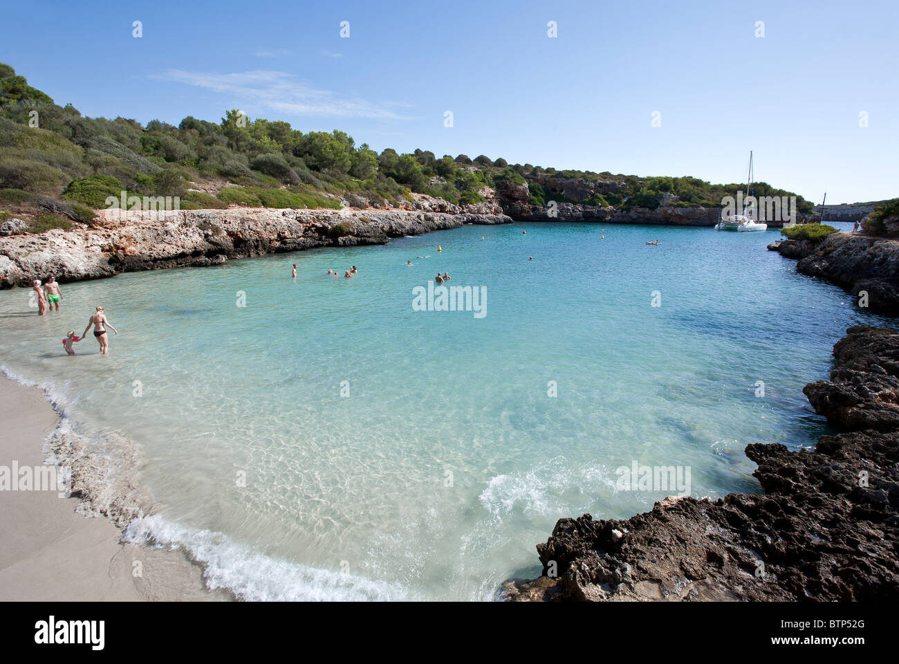 Cala Sa Nau beach. Mallorca Island. Spain Stock Photo