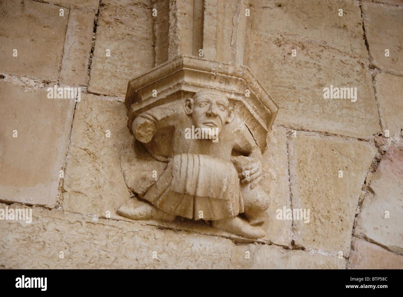 Sante Creus, Spain, Catalunya, Bas Relief - Stock Image